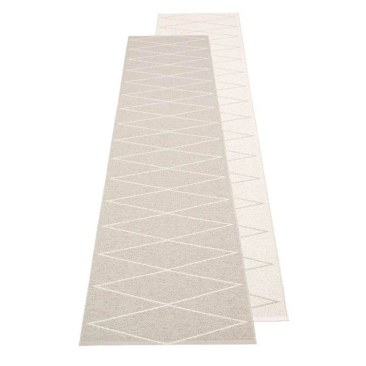 Max Wendeteppich, 70 x 240 cm in linen / vanilla von Pappelina