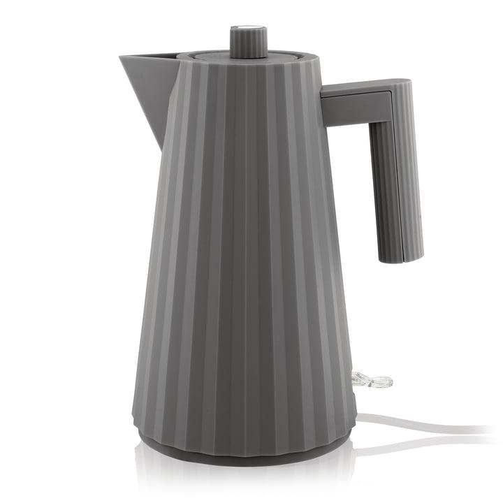Plissé Wasserkocher 1,7 l von Alessi in grau