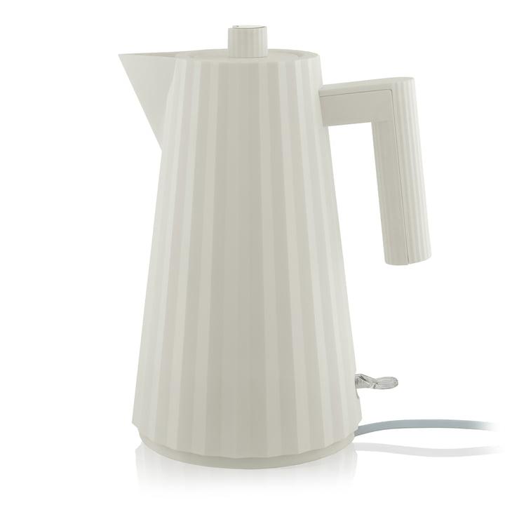 Plissé Wasserkocher 1,7 l von Alessi in weiß