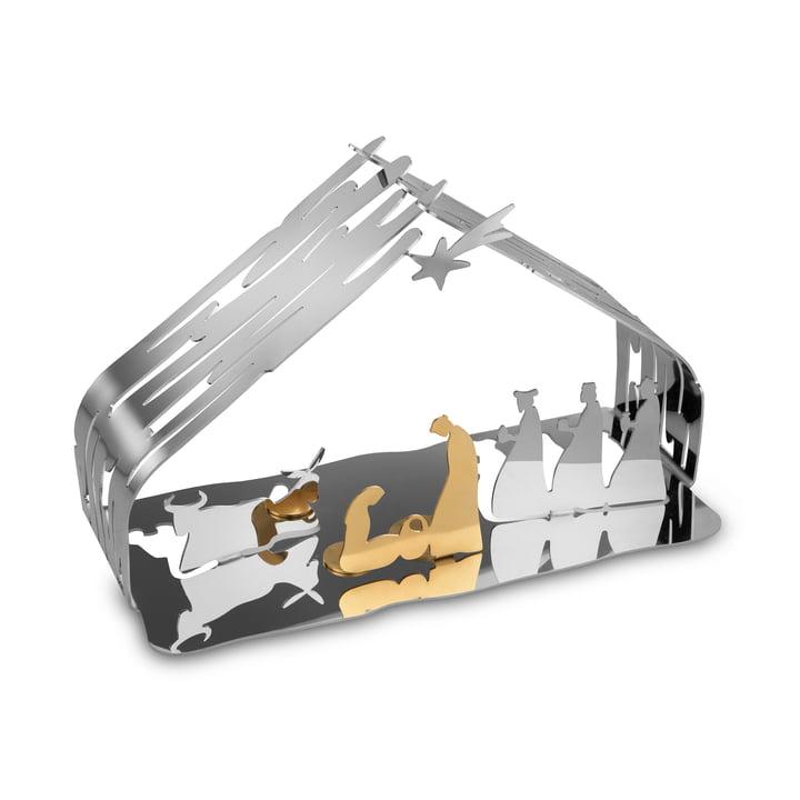 Bark Krippe von Alessi in Edelstahl / Stahl gold