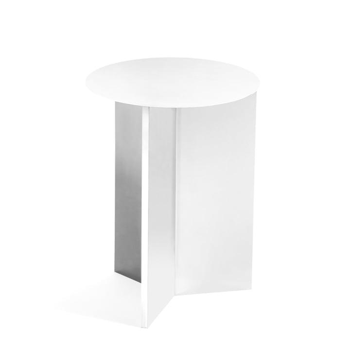 Slit Table High, Ø 35 x 47 cm von Hay in weiß
