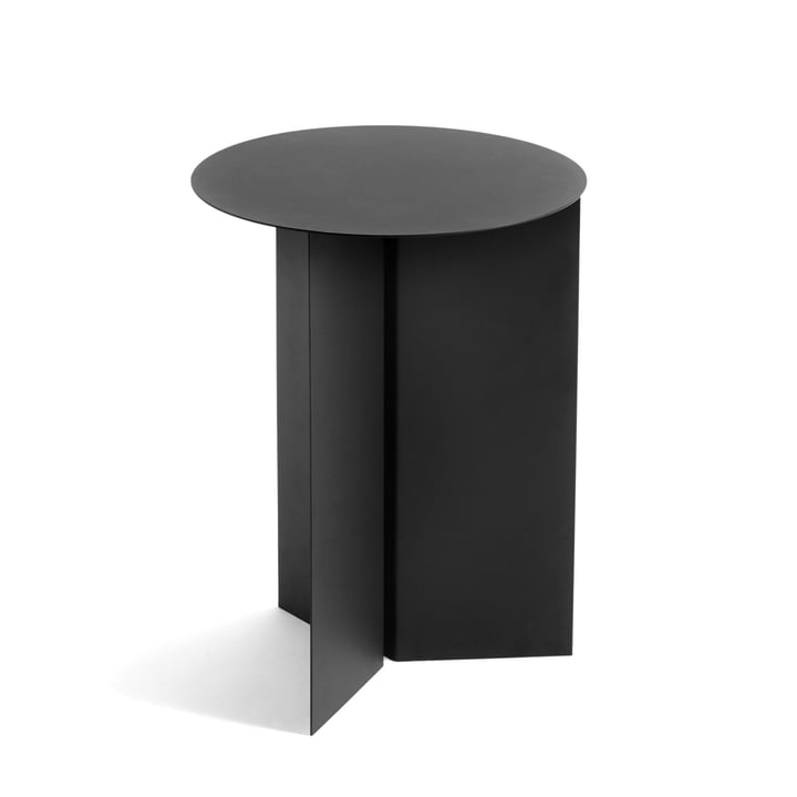 Slit Table High, Ø 35 x 47 cm von Hay in schwarz