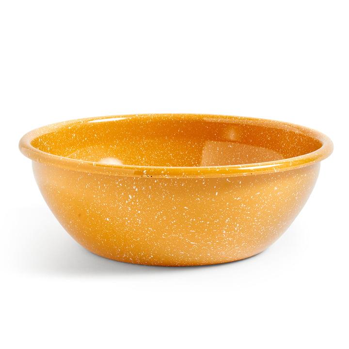 Emaille Schale Ø 26 cm von Hay in mustard gesprenkelt