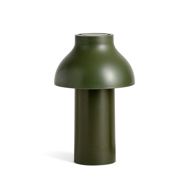 PC Portable LED Leuchte von Hay in olive (RAL 6003)