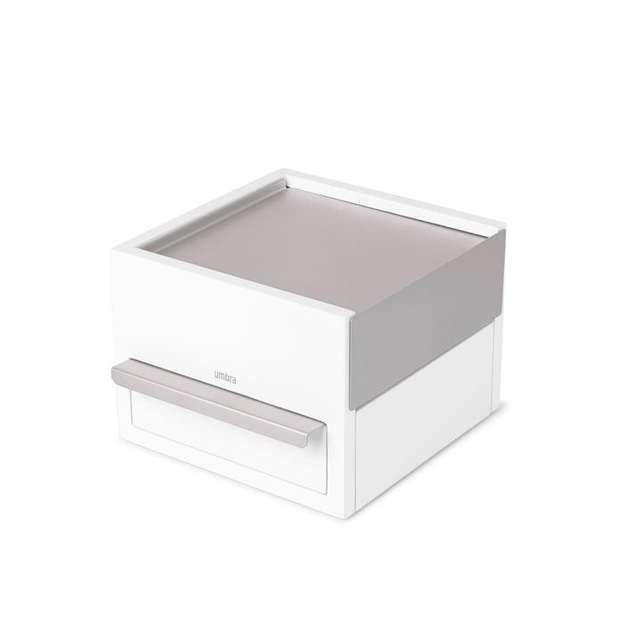 Stowit Mini Schmuckkasten von Umbra in Buche weiß / hellgrau