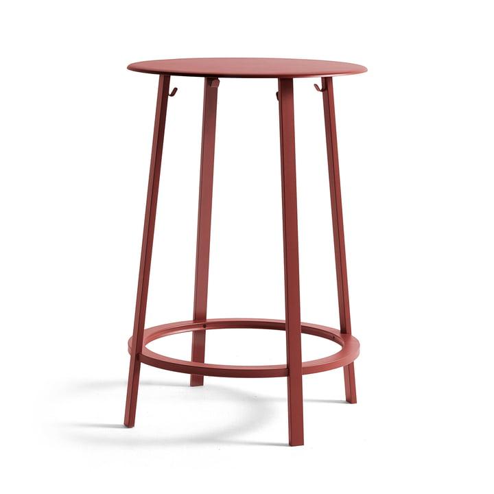 Eevolver Stehtisch Ø 70 x H 105 cm von Hay in rot