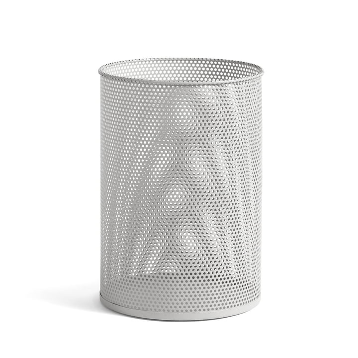 Perforated Bin L, Ø 30,5 x H 44 cm von Hay in hellgrau