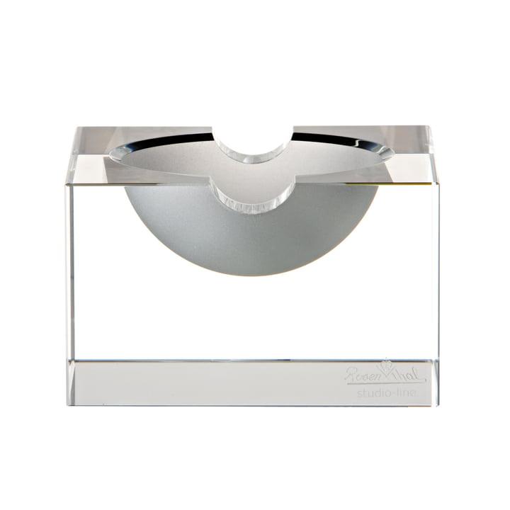 Blockglas Aschenbecher von Rosenthal in klar