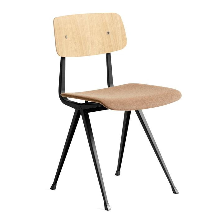 Result Chair von Hay in Eiche matt lackiert / schwarz / Canvas (356)