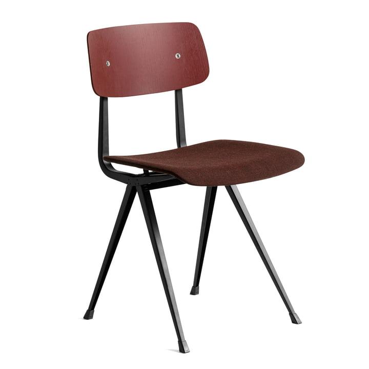 Result Chair von Hay in Eiche brick gebeizt / schwarz / Remix (373)