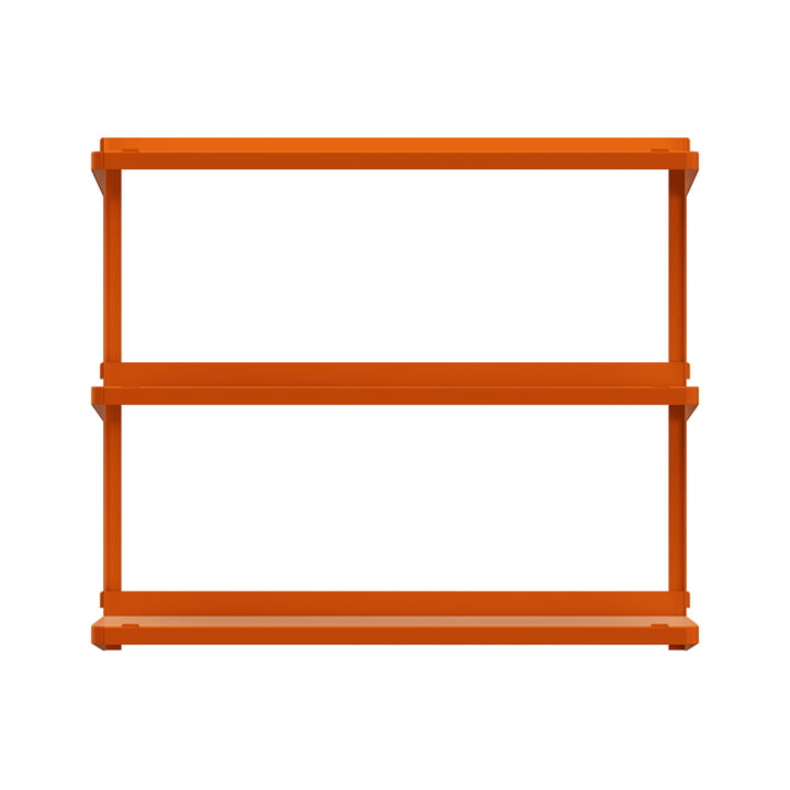 Click Regalsystem 710 × 210 × 610 mm von New Tendency in orange