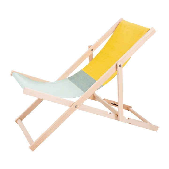 Beach Chair in grün / gelb von Weltevree