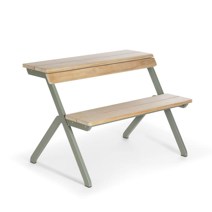 Tablebench Gartentisch, 2-Sitzer in zementgrau von Weltevree