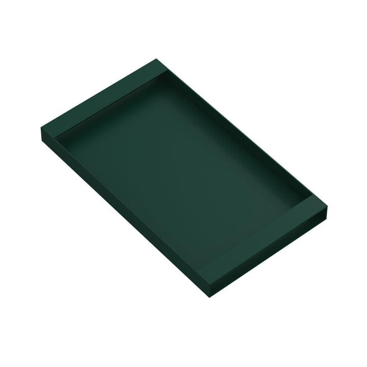 Torei Serviertablett 320 × 185 × 25 mm von New Tendency in dunkelgrün