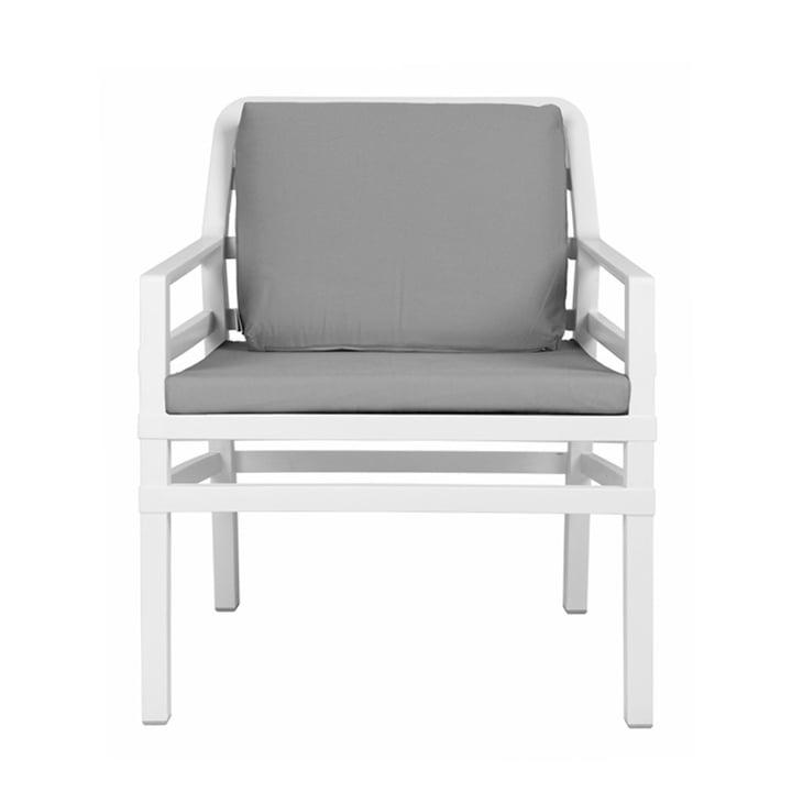 Aria Poltrona Armlehnstuhl von Nardi in weiß / grau