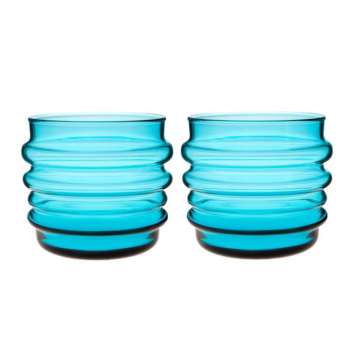 Sukat Makkaralla Wasserglas 200 ml (2er-Set) von Marimekko in türkis