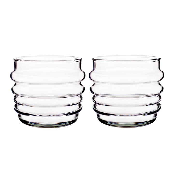 Sukat Makkaralla Wasserglas 200 ml (2er-Set) von Marimekko in klar