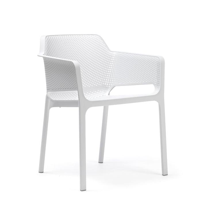 Net Armlehnstuhl von Nardi in weiß