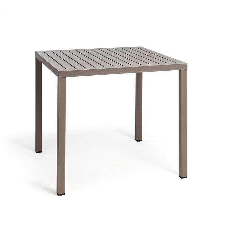 Der Cube Tisch 80 in tortora von Nardi