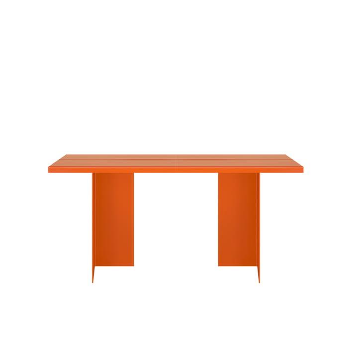Zebe Tisch 150 x 85 cm von Objekte unserer Tage in reinorange