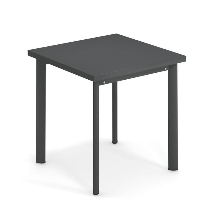 Star Tisch H 75 cm, 70 x 70 cm in antikeisen von Emu