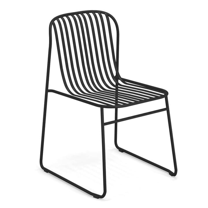 Riviera Stuhl in schwarz von Emu