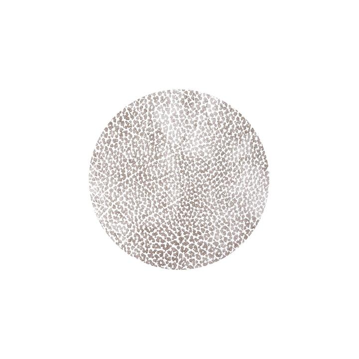 Glasuntersetzer rund Ø 10 cm von LindDNA in Hippo weiß-grau