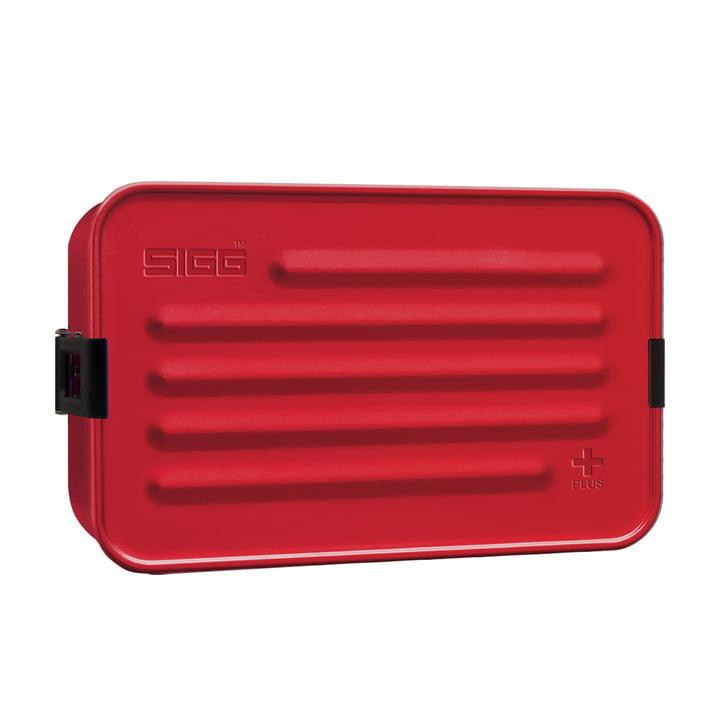 Aluminium Box Brotdose Plus L von Sigg in rot