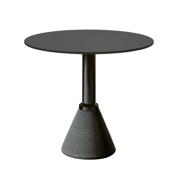 Table One Bistro Ø 79 cm in schwarz / schwarz von Magis