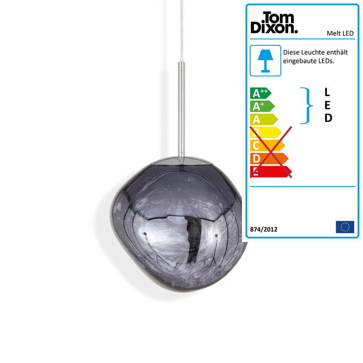 Melt Mini LED-Pendelleuchte von Tom Dixon in smoke