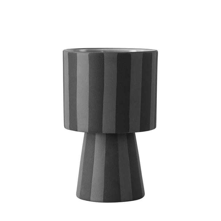 Toppu Übertopf Ø 10 x H 15 cm von OYOY in schwarz / grau