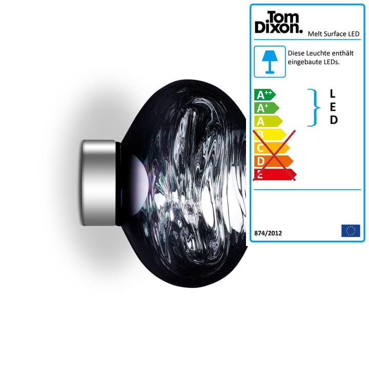 Melt Mini Surface LED-Deckenleuchte von Tom Dixon in smoke
