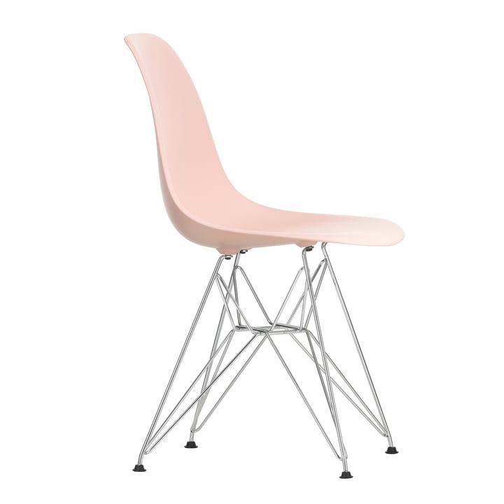 Eames Plastic Side Chair DSR von Vitra in verchromt / zartrosé