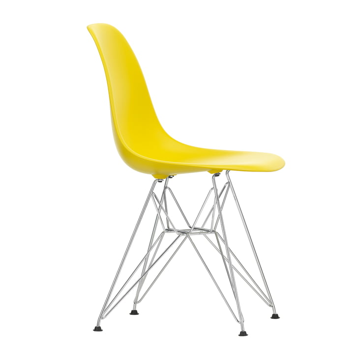 Eames Plastic Side Chair DSR von Vitra in verchromt / sunlight