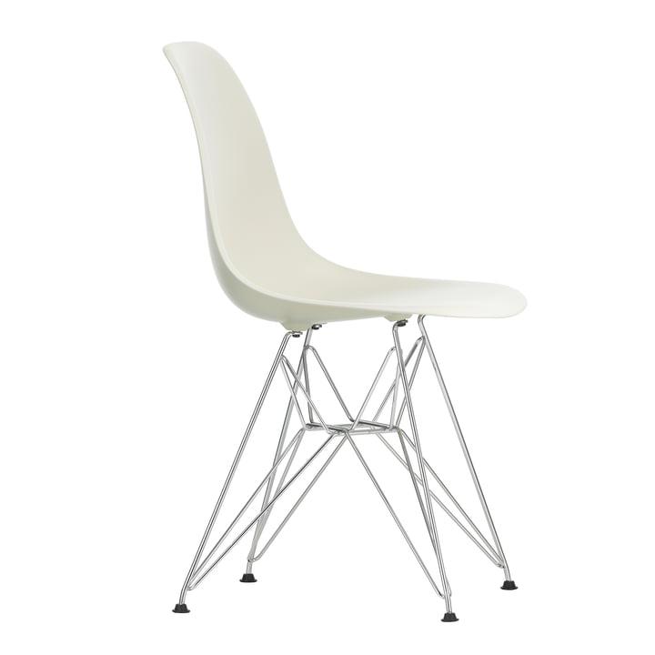 Eames Plastic Side Chair DSR von Vitra in verchromt / kieselstein