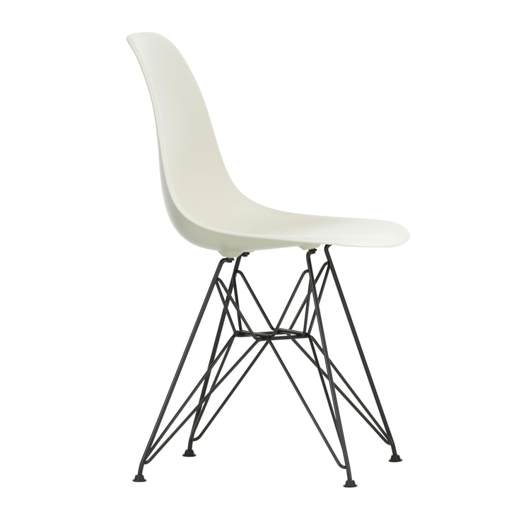 Eames Plastic Side Chair DSR von Vitra in basic dark / kieselstein