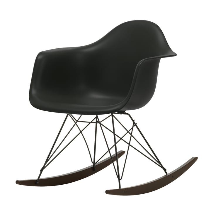 Eames Plastic Armchair RAR von Vitra in Ahorn dunkel / basic dark / tiefschwarz