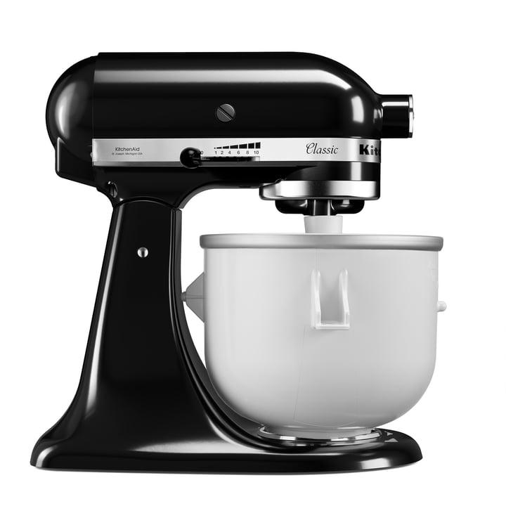 Artisan Küchenmaschine 4.8 l Eiscreme Set von KitchenAid in onyx schwarz