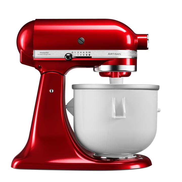 Artisan Küchenmaschine 4.8 l Eiscreme Set von KitchenAid in empire rot