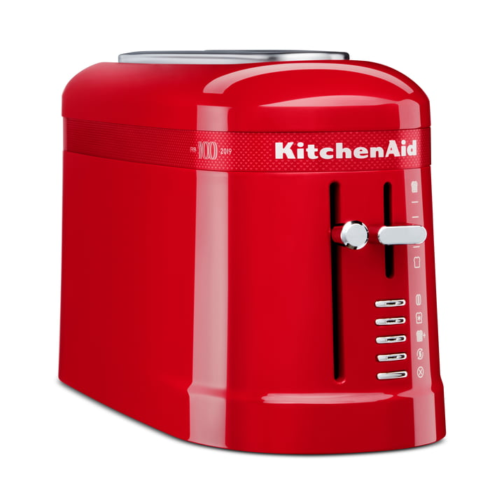 Queen of Hearts Design 2-Scheiben Langschlitz-Toaster von KitchenAid in passion red (Limited Edition)