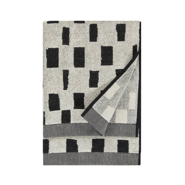 Iso Noppa Handtuch 50 x 100 cm von Marimekko in off-white / schwarz