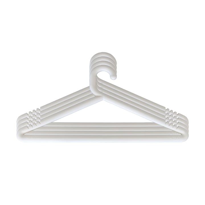 Hongi Kleiderbügel in weiß (4er-Set) von Karup Design