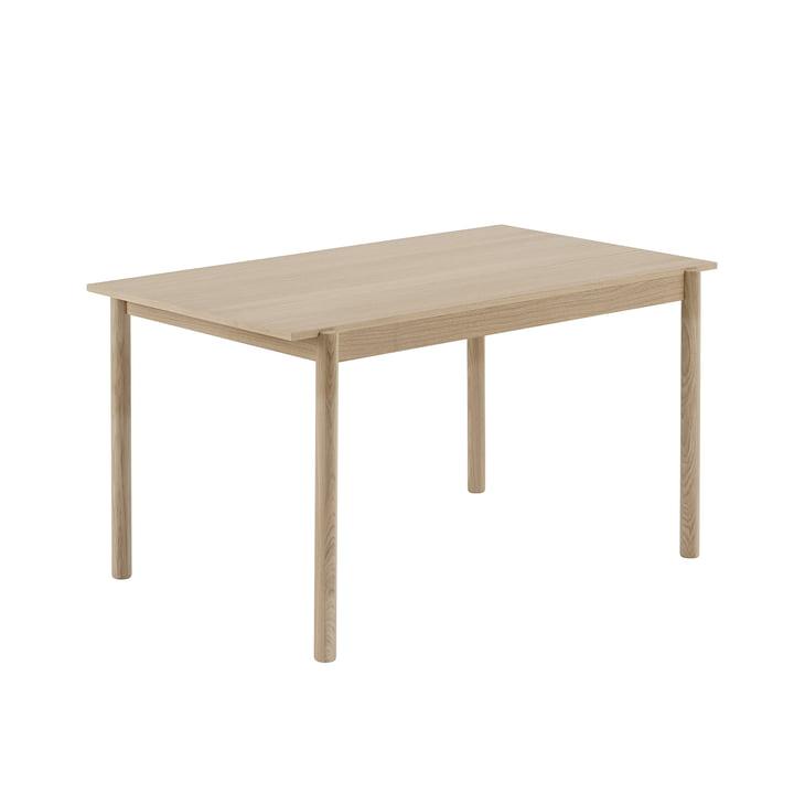 Linear Wood Esstisch 140 x 85 cm in Eiche von Muuto