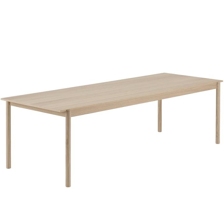 Linear Wood Esstisch 260 x 90 cm in Eiche von Muuto