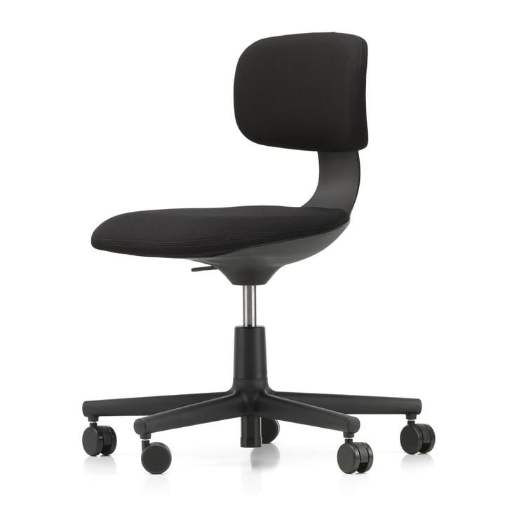Rookie Bürostuhl von Vitra in tiefschwarz / Plano nero