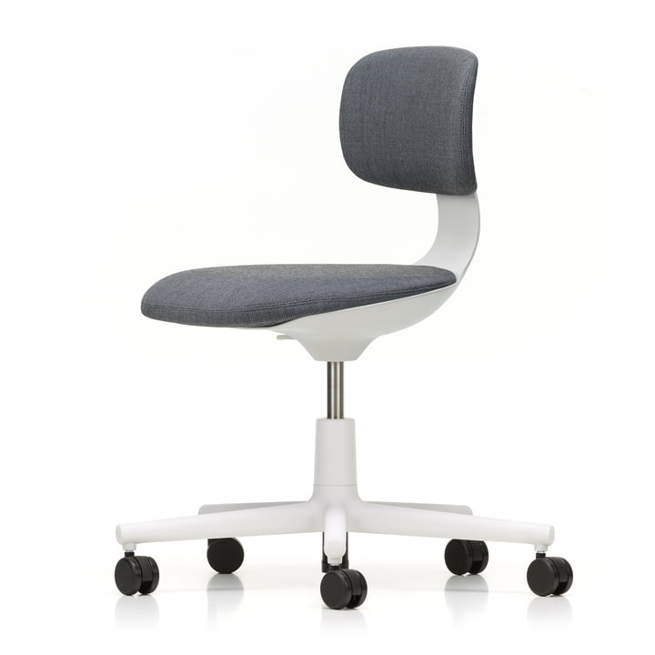 Rookie Bürostuhl von Vitra in soft grey / Volo 15 mittelgrau