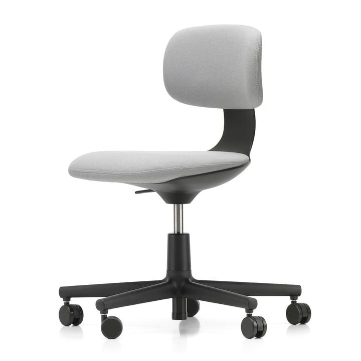 Rookie Bürostuhl von Vitra in tiefschwarz / Plano cremeweiß / sierragrau