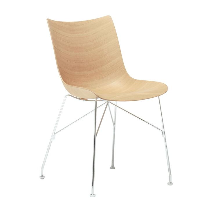 P/Wood Stuhl von Kartell in verchromt / Esche hell