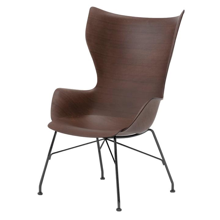 K/Wood Sessel von Kartell in schwarz / dunkel