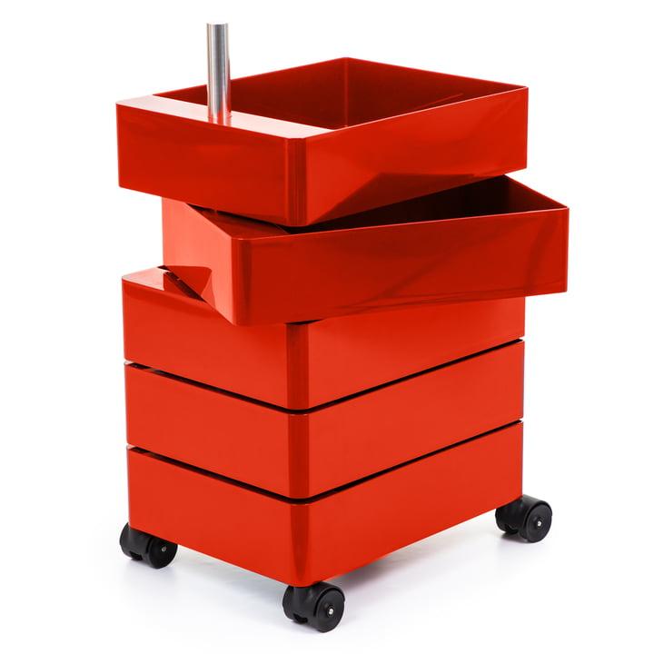 360° Container, 5 Fächer in rot von Magis